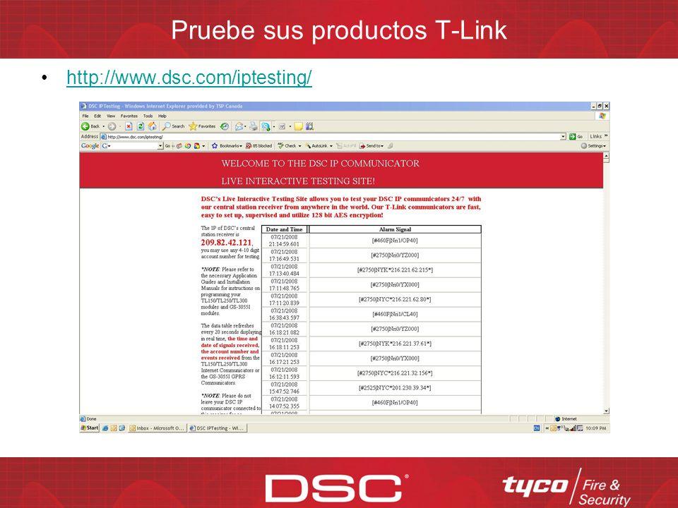 Pruebe sus productos T-Link