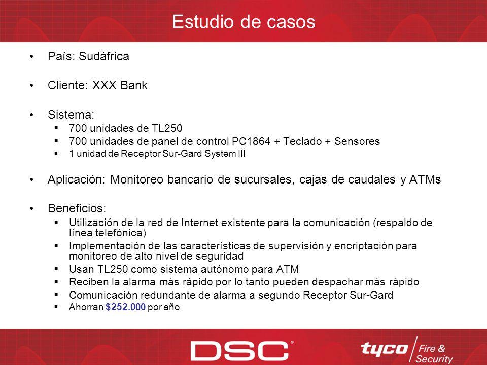 Estudio de casos País: Sudáfrica Cliente: XXX Bank Sistema: