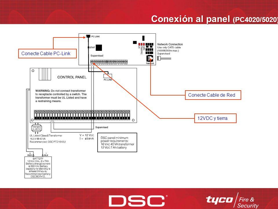 Conexión al panel (PC4020/5020)