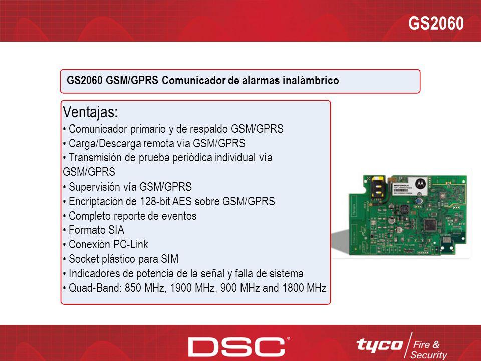 GS2060 Ventajas: GS2060 GSM/GPRS Comunicador de alarmas inalámbrico