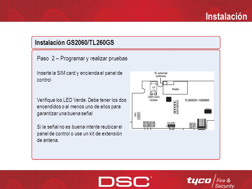 Instalación Instalación GS2060/TL260GS