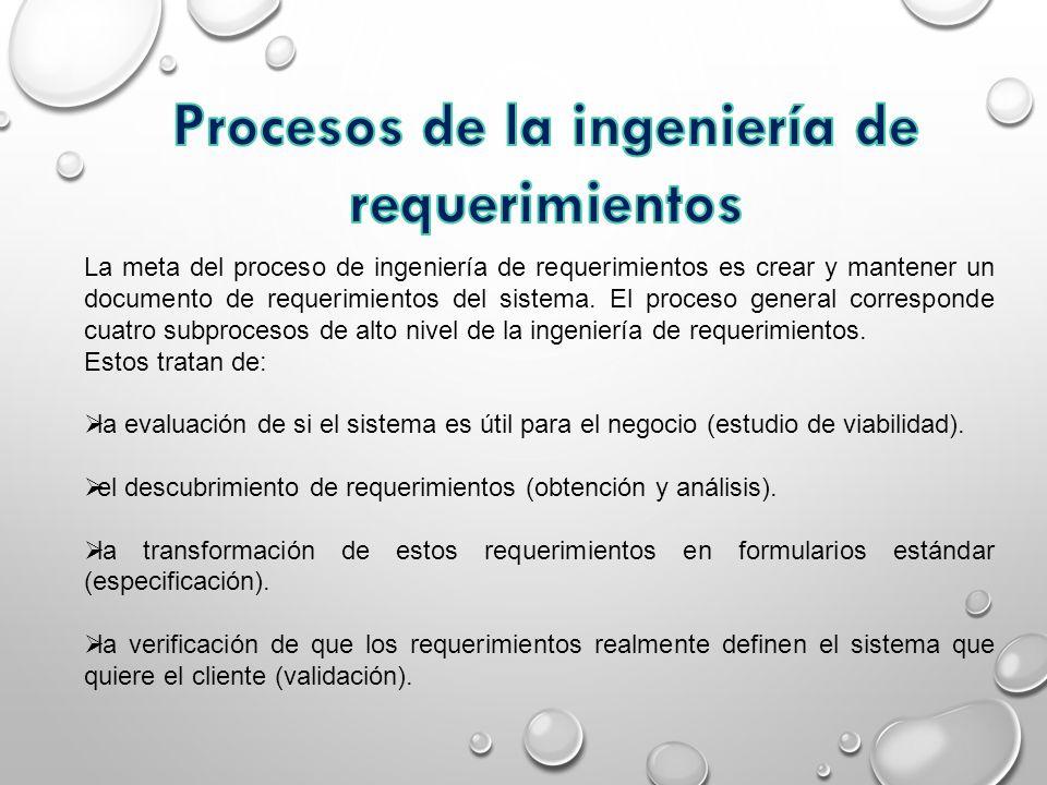 Procesos de la ingeniería de requerimientos