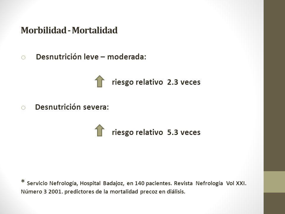 Morbilidad - Mortalidad