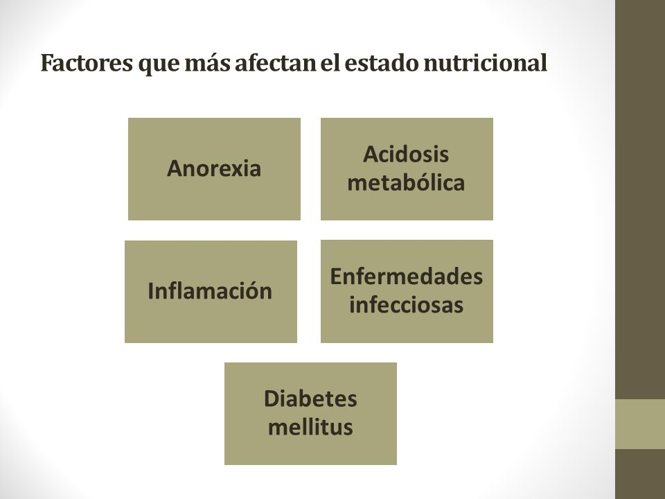 Factores que más afectan el estado nutricional