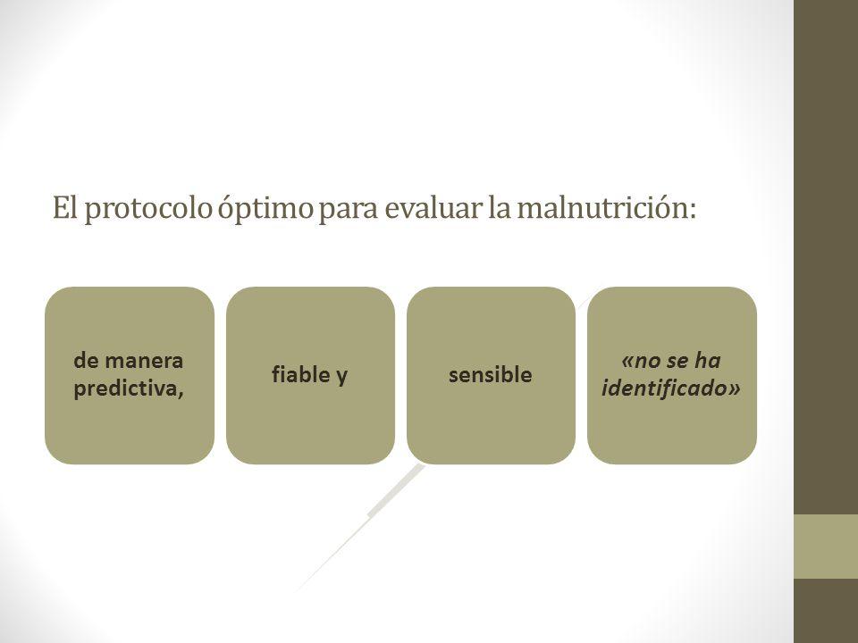 El protocolo óptimo para evaluar la malnutrición: