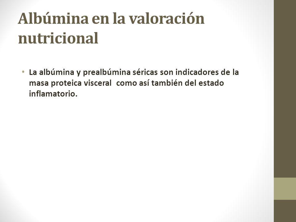 Albúmina en la valoración nutricional