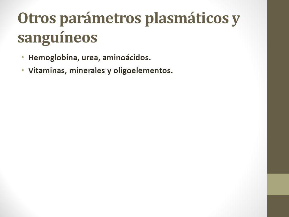 Otros parámetros plasmáticos y sanguíneos