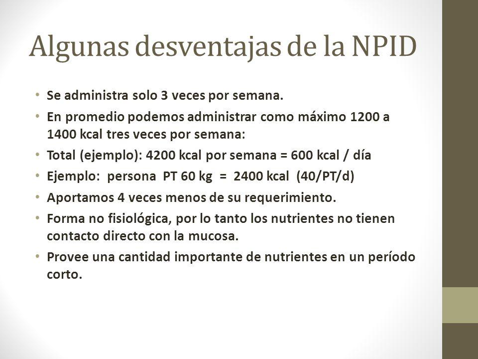 Algunas desventajas de la NPID