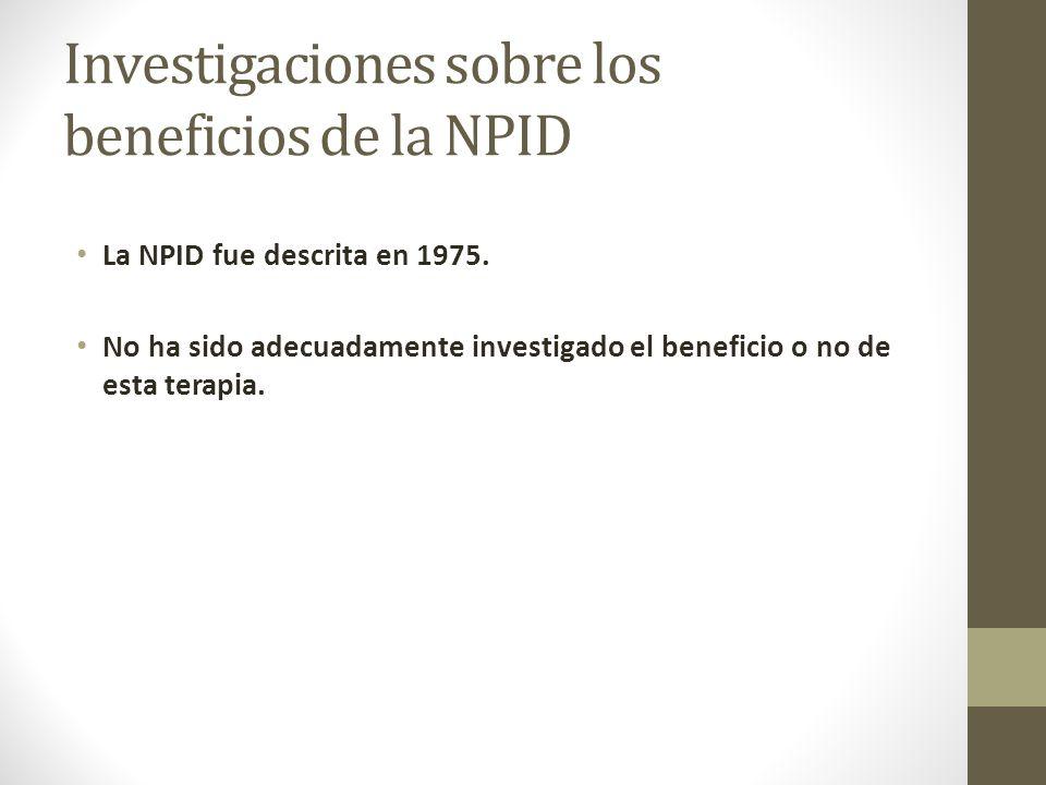 Investigaciones sobre los beneficios de la NPID