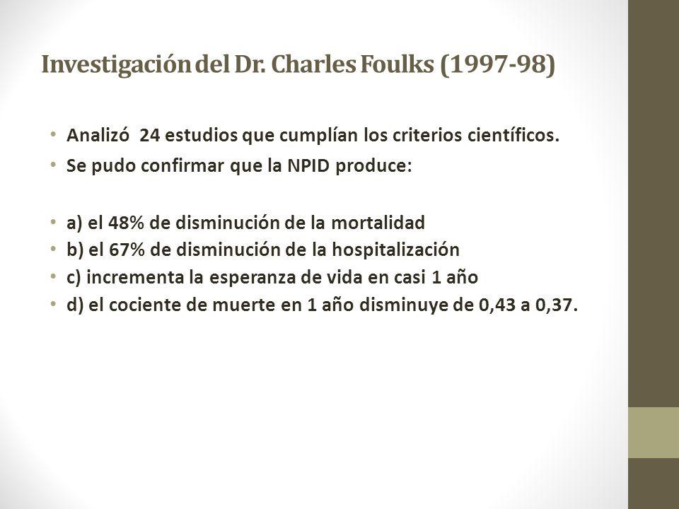Investigación del Dr. Charles Foulks (1997-98)