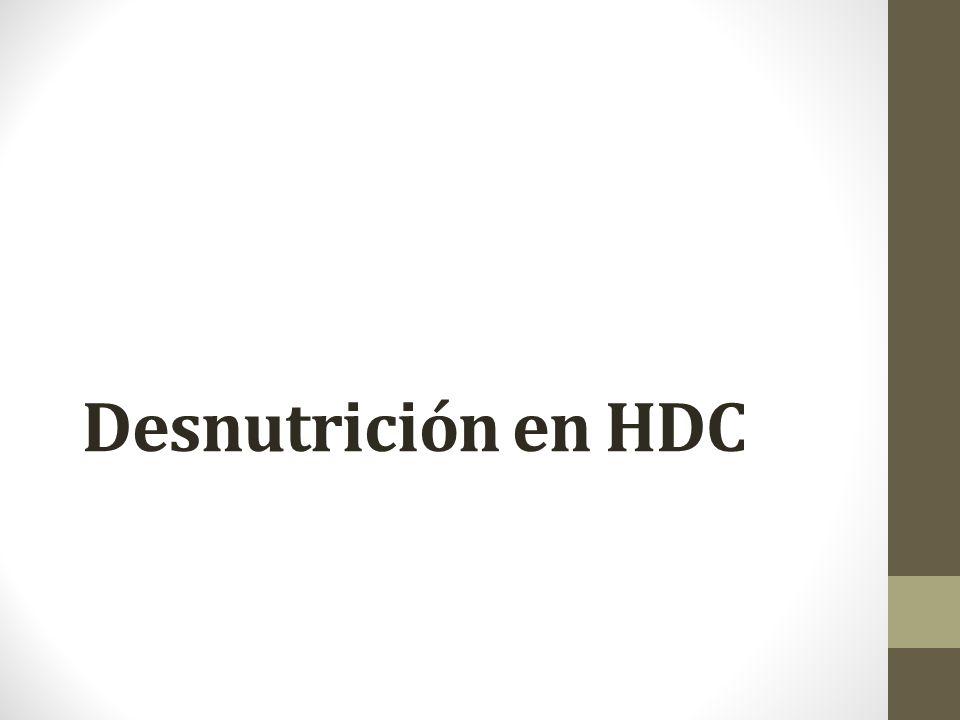 Desnutrición en HDC