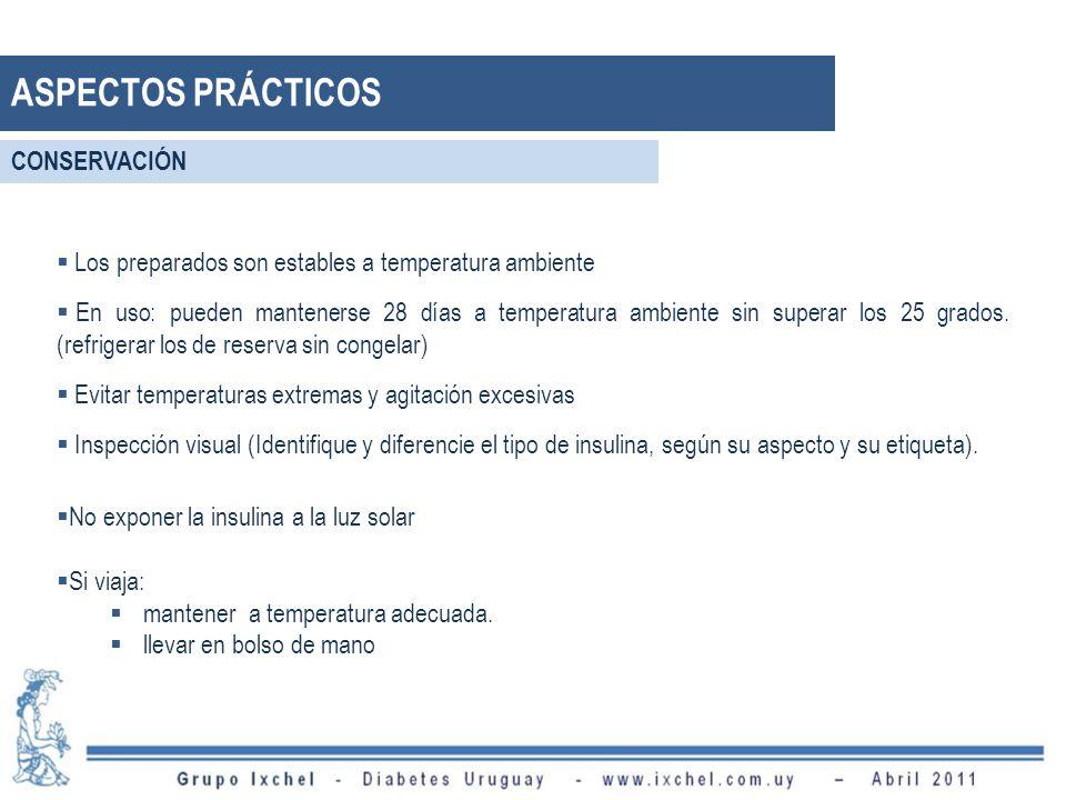 ASPECTOS PRÁCTICOS CONSERVACIÓN