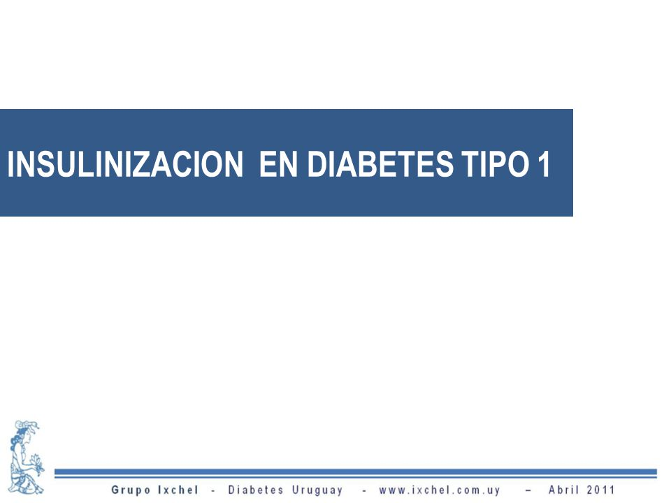 INSULINIZACION EN DIABETES TIPO 1