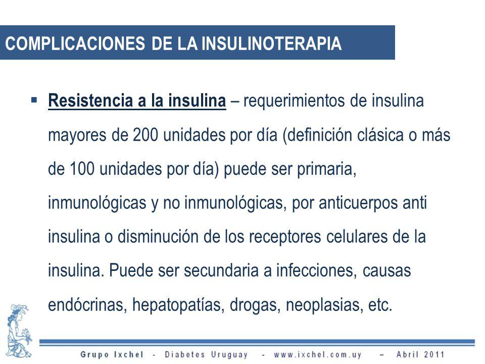 Complicaciones de la Insulinoterapia