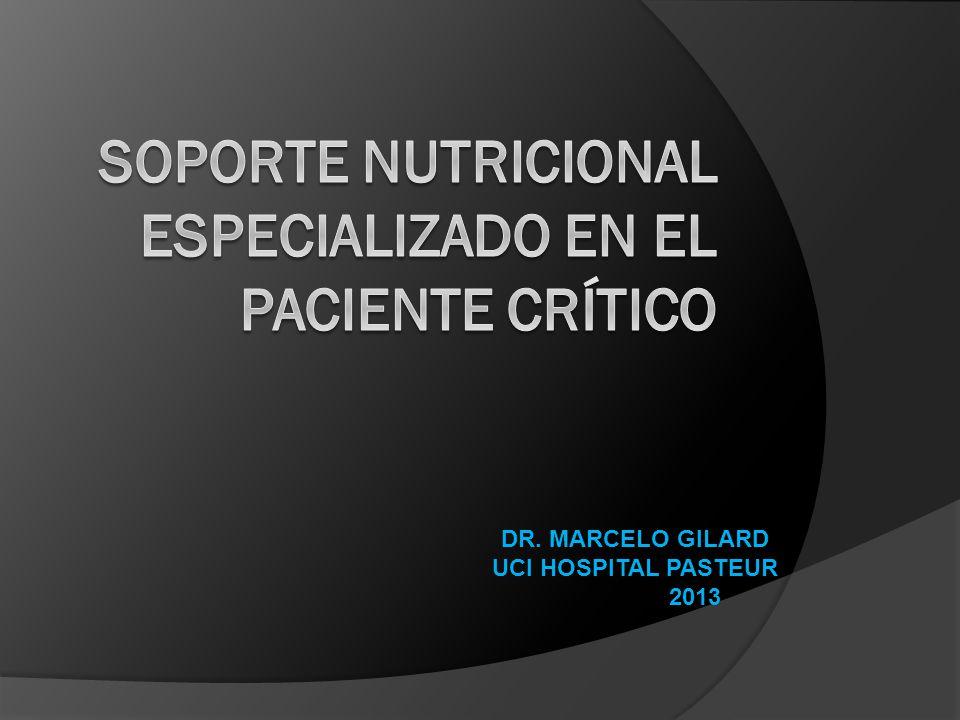 SOPORTE NUTRICIONAL ESPECIALIZADO EN EL PACIENTE CRÍTICO