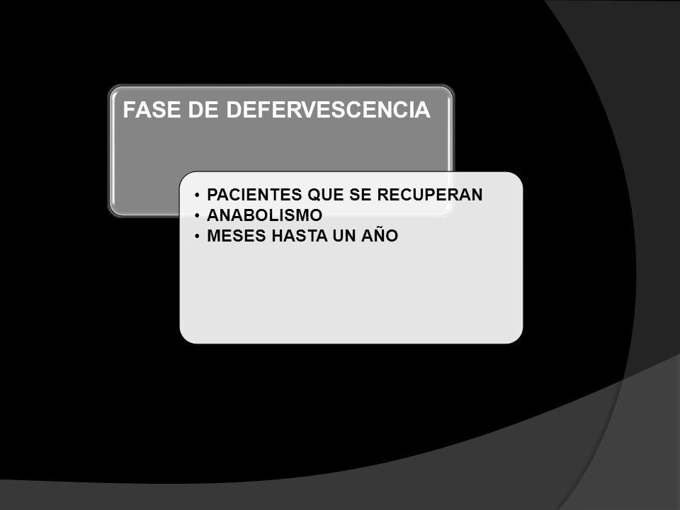 FASE DE DEFERVESCENCIA