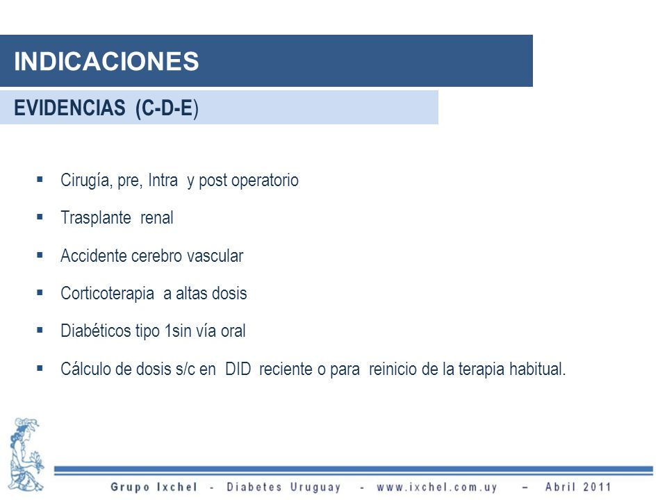 INDICACIONES EVIDENCIAS (C-D-E) Cirugía, pre, Intra y post operatorio