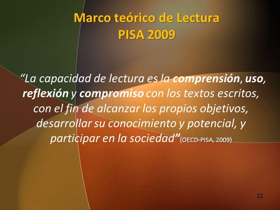 Marco teórico de Lectura PISA 2009