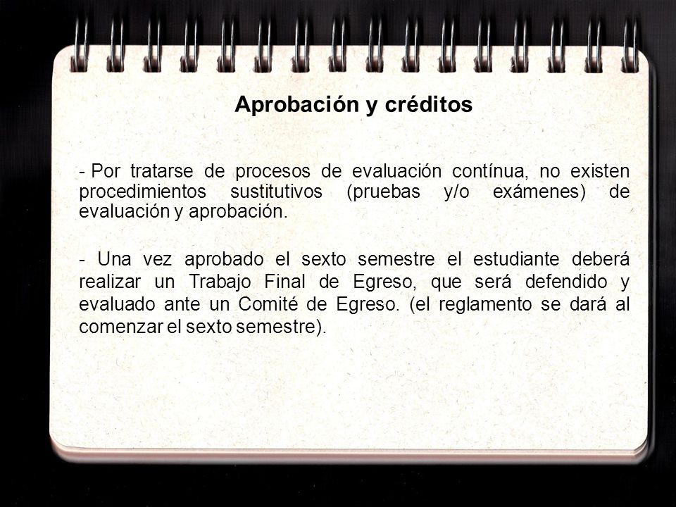 Aprobación y créditos