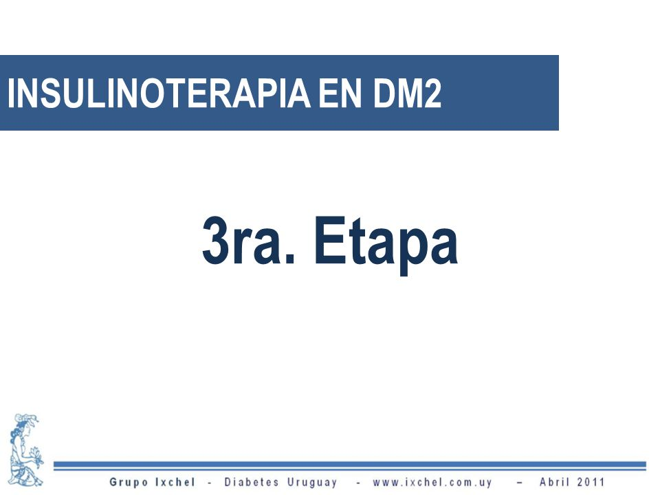 INSULINOTERAPIA EN DM2 3ra. Etapa