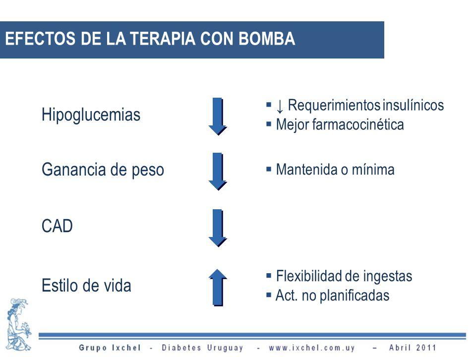 EFECTOS DE LA TERAPIA CON BOMBA