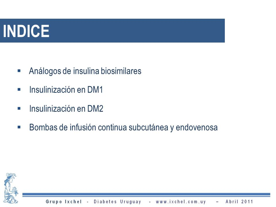 INDICE Análogos de insulina biosimilares Insulinización en DM1