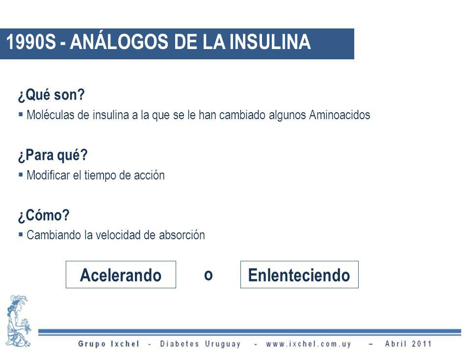 1990S - ANÁLOGOS DE LA INSULINA
