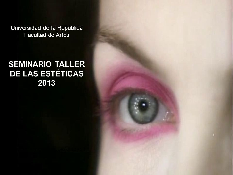 SEMINARIO TALLER DE LAS ESTÉTICAS 2013