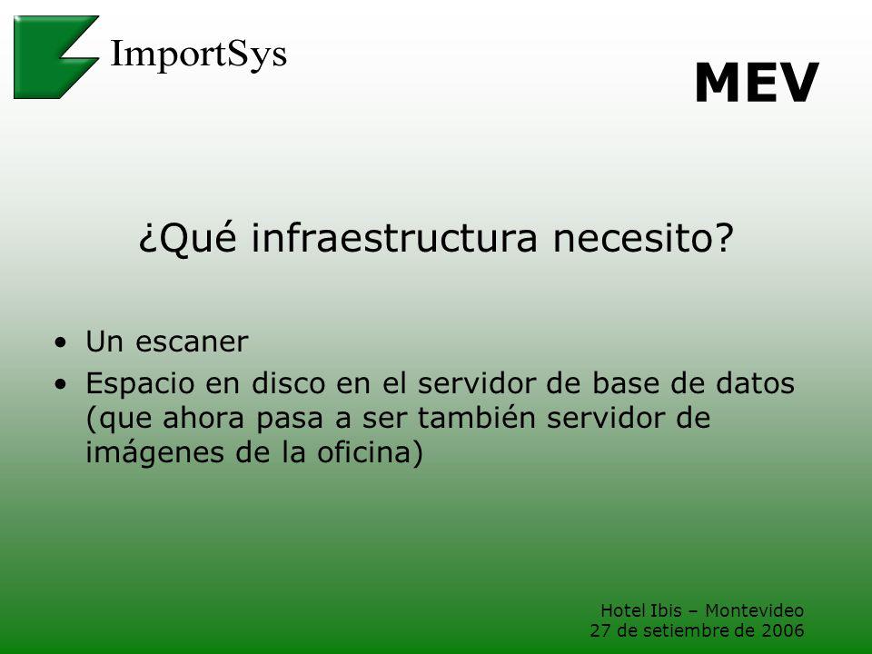 ¿Qué infraestructura necesito