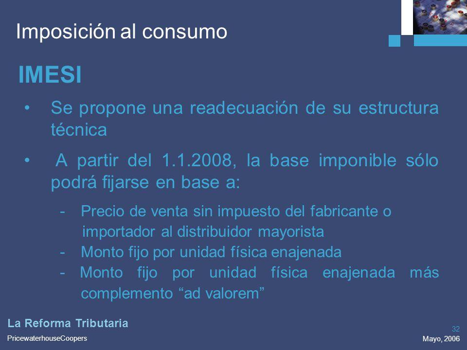 IMESI Imposición al consumo