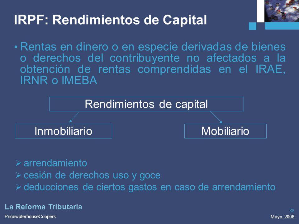 IRPF: Rendimientos de Capital
