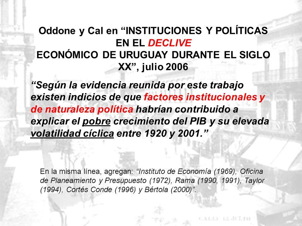 Oddone y Cal en INSTITUCIONES Y POLÍTICAS EN EL DECLIVE