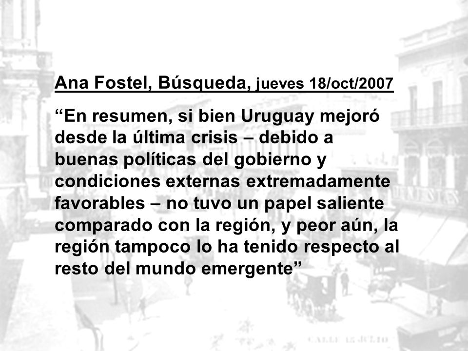 Ana Fostel, Búsqueda, jueves 18/oct/2007