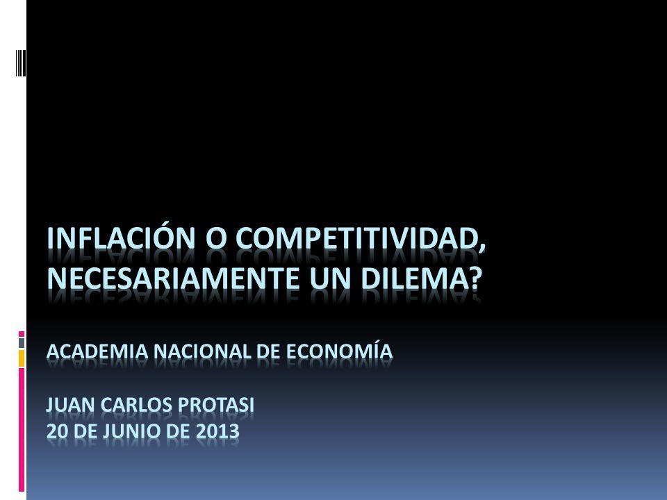 Inflación o Competitividad, necesariamente un dilema