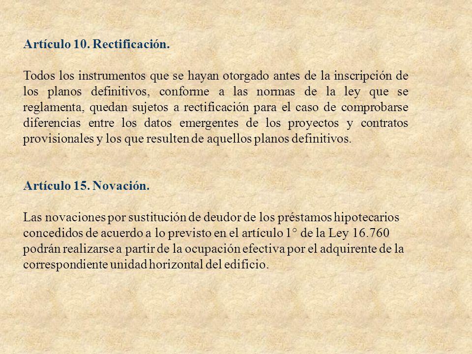 Artículo 10. Rectificación.
