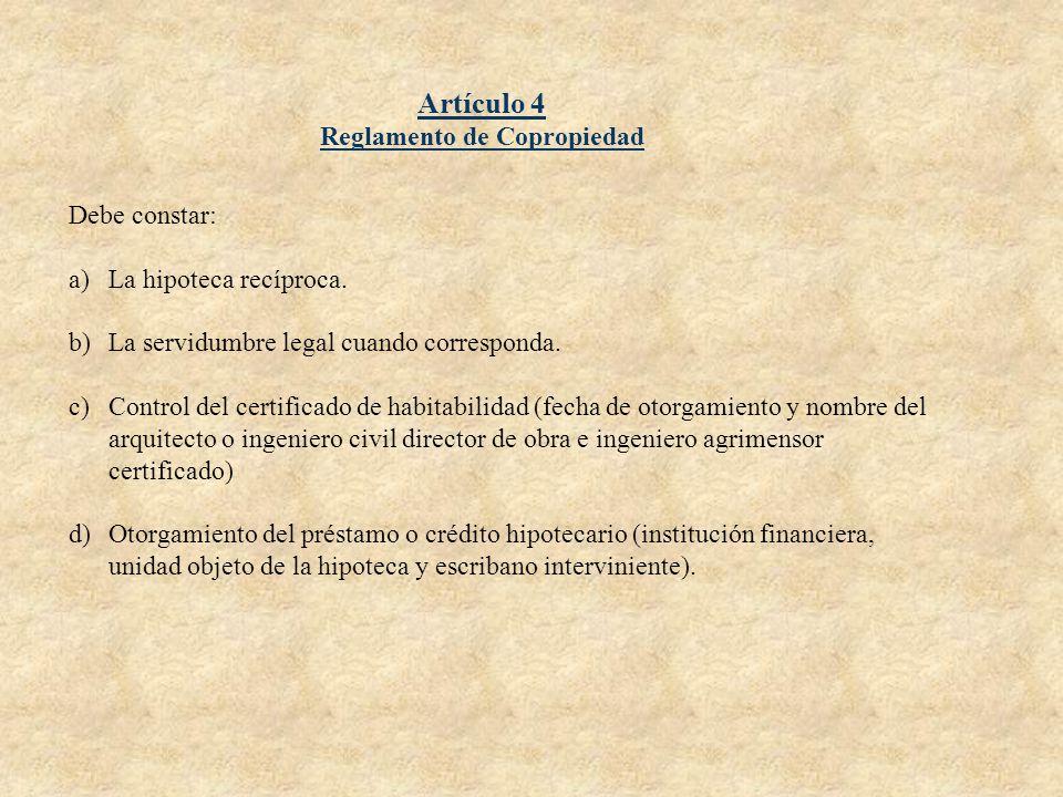 Reglamento de Copropiedad