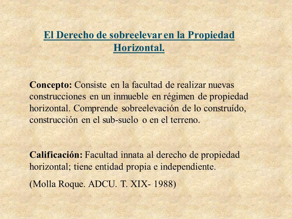 El Derecho de sobreelevar en la Propiedad Horizontal.