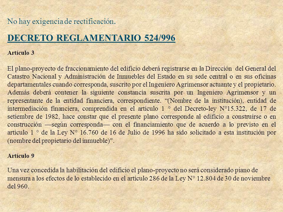 DECRETO REGLAMENTARIO 524/996