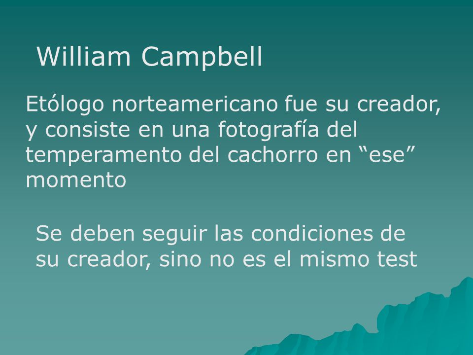 William Campbell Etólogo norteamericano fue su creador,