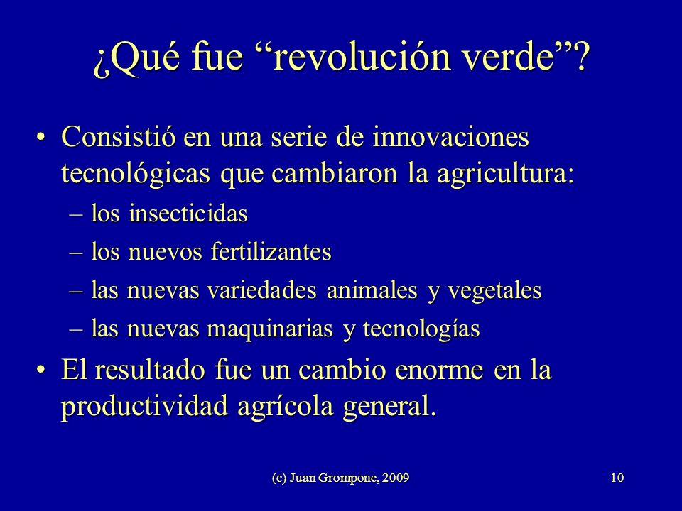¿Qué fue revolución verde