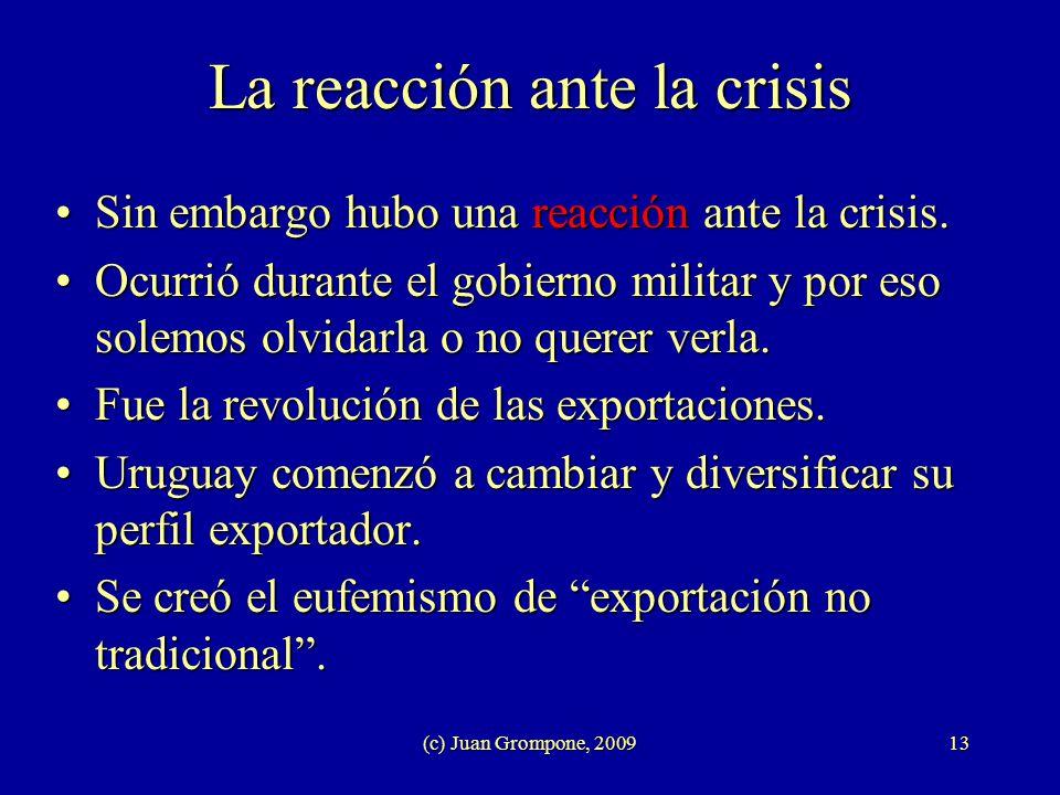 La reacción ante la crisis