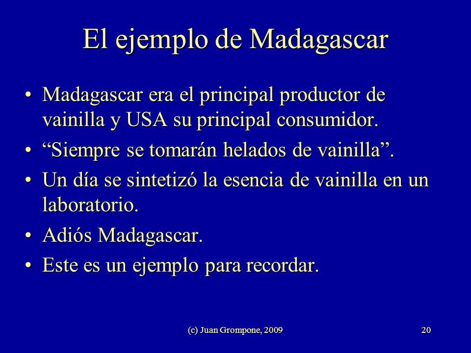 El ejemplo de Madagascar