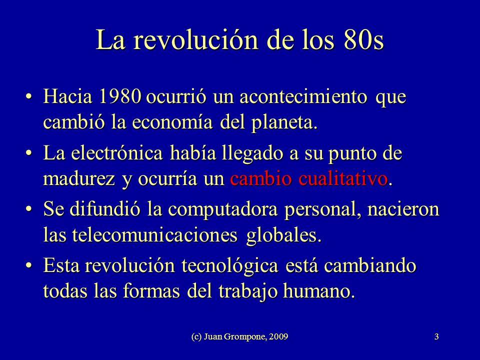 La revolución de los 80s Hacia 1980 ocurrió un acontecimiento que cambió la economía del planeta.