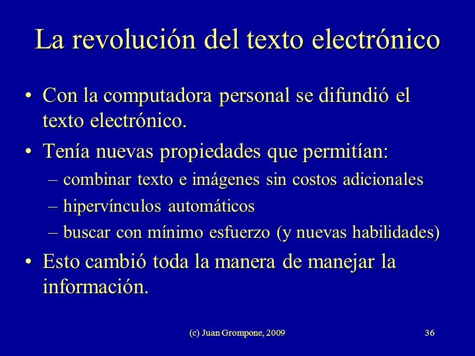 La revolución del texto electrónico