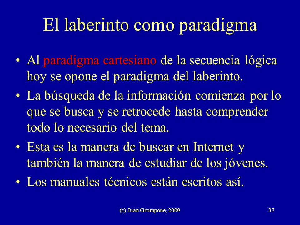 El laberinto como paradigma