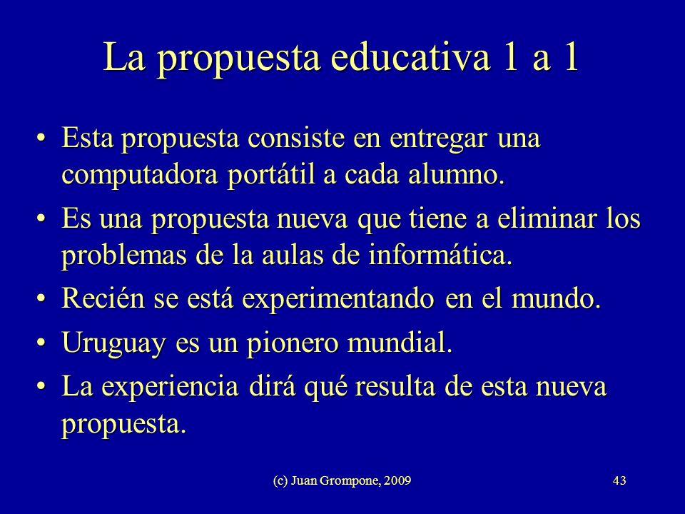 La propuesta educativa 1 a 1