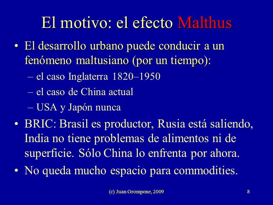 El motivo: el efecto Malthus