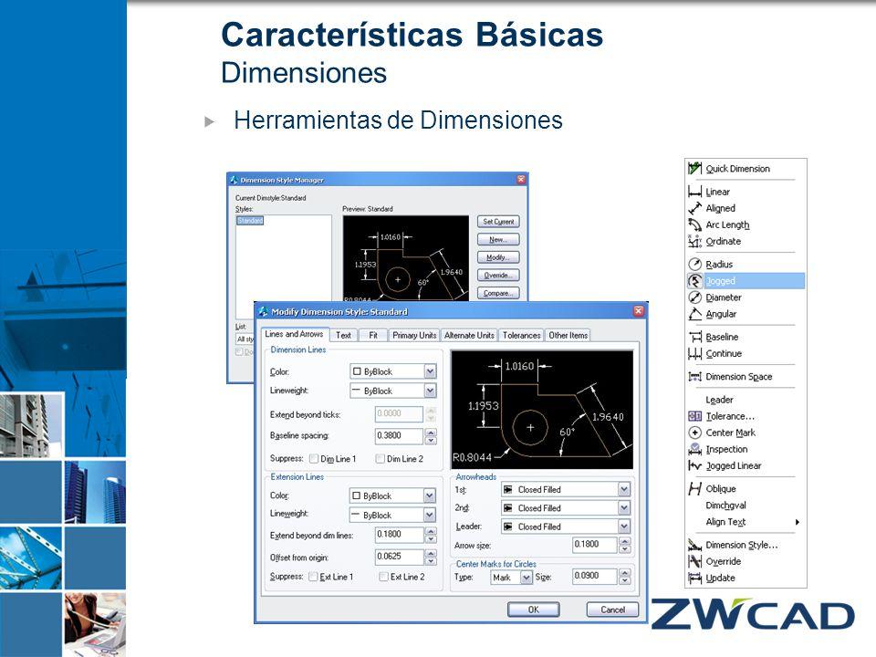 Características Básicas Dimensiones