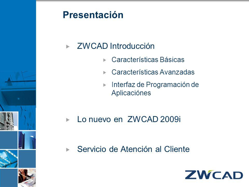 Presentación ZWCAD Introducción Lo nuevo en ZWCAD 2009i