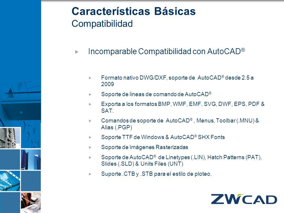 Características Básicas Compatibilidad
